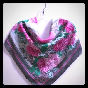 Pink & Gray Floral scarf